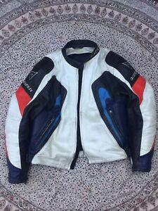 DAINESE - White-Black-Blue-Red - Leather - Motorbike - Jacket - size 56