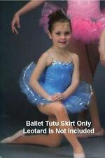 Blue Ballet Tutu Skirt Only Dance Costume Graduated Layers Child Sizes Clearance