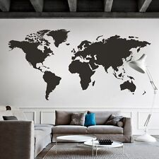 World Map Wall Decal Big Global Vinyl Office Inspiration Room Mural Decor Large
