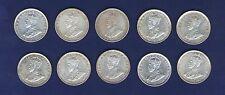 AUSTRALIA GEORGE V 1 SHILLING SILVER COINS: 1916, 1917, 1918, 1920, 1925, 1926..