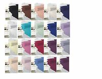 Luxury Plain Dyed Sheet Set Fitted Sheet With Flat Sheet & Pillow Pair All sizes