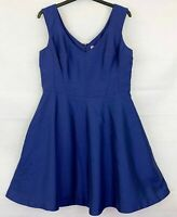 PEPPERBERRY Womens Blue Sleeveless Dress Size 14