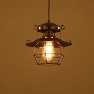 Vintage Retro Industrial Loft Style Ceiling Pendant Light Lampshade Metal Shade