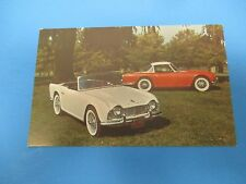 Triumph TR-4 Convertible & Hard Top Coupe Vintage Factory Postcard PC33