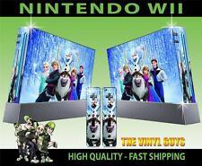 Nintendo Wii Adesivo carattere congelato Elsa Anna Olaf Sven etc Skin e 2 SKIN Pad