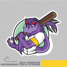 Baseball Violet Monster Crocodile B Vinyle Sticker Autocollant Fenêtre Voiture Van Vélo 2541