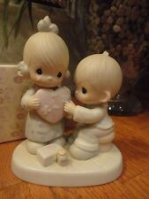 Precious Moments Figurine He's The Healer Of Broken Hearts 1986 100080 Mib