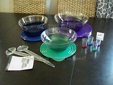 Tupperware Sheerly Elegant Collection Acrylic Bowl Set 3 TONGS Mini Tumblers NEW