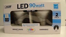 FeitElectric Weatherproof 2Pack 15W 3000K Bright White Par38 LED Light Bulbs 90W