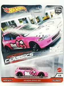 Hot Wheels Honda Civic EG Hello Kitty Modern Classics FPY86-956S 1/64