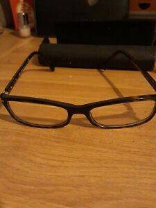 PRADA,  Brown Tortoise Shell Reading Glasses With Case!