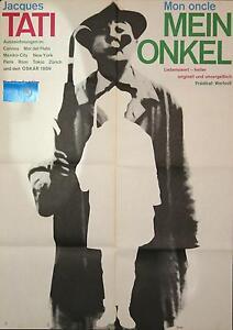 4 vintage Kinoplakate MEIN ONKEL Jacques Tati ReRelease 1978