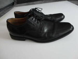 CLARKS COLLECTION ULTIMATE COMFORT MENS BLACK SHOES LEATHER SIZE 10.5 G UK 45