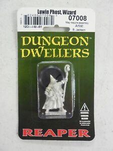REAPER Dungeon Dwellers LUWIN PHOST, WIZARD Miniature 07008  NEW!!