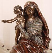 Religiöse Figur Maria mit Jesus Skulptur Mutter Gottes mit Jesuskind Antikstil