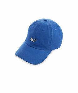 Vineyard Vines Whale Logo EMB Baseball Hat Spinnaker Blue New