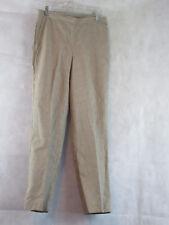 Alfred Dunner Petite African Safari Comfort Waist Pants, Sand/White, 8P Medium