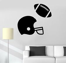 Vinyl Wall Decal American Football Helmet Ball Boy Teen Room Stickers (510ig)