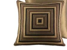 New$100 J.Queen Hanover Euro Pillow Sham Multi-colored Black Brown Set of 2