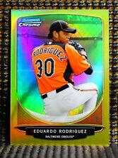 EDUARDO RODRIGUEZ  -  2013 BOWMAN CHROME PROSPECTS GOLD REFRACTOR     #ED/50