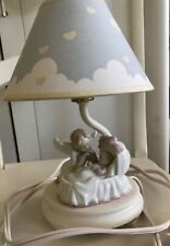 Lamp Porcelain Angel with Baby Girl In Bassinet Pink & White?