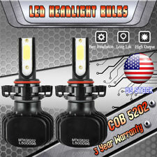 5202 H16 LED Fog Light Bulbs for 2007-2017 Chevrolet Silverado 1500 2500 3500 HD