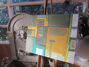ABSTRACT PAINTING MODERNIST San Francisco EXPRESSIONISM Dr Gross LISTED ARTIST