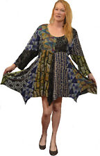 FUNKY STUFF nothing matches patch flannel hanky TOP TUNIC DRESS 2X 22W Free ship