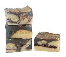 1 PEZZI DI CIOCCOLATO & LATTE DI COCCO Soap Bar 100% Naturale Fatto A Mano 120 G