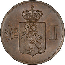 Norway 1876 5 Ore CHOICE GLOSSY UNC