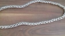 "Mens CZ Chain CUSTOM     USED   8 Oz weight 22"" length 12mm wide"