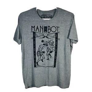 Maiden  Voyage, Man Vs. Bot T-Shirt Robot Boxing Scifi Nerd Crossfit Size XL