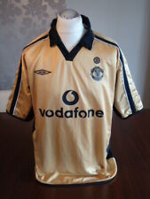 MANCHESTER UNITED Original 2001 UMBRO Reversible Away Shirt XL to XXL Rare