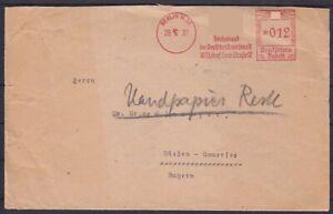 DR 12 Pf. AFS Brief Berlin Reichsbund der dt. Beamten - Dießen 1937