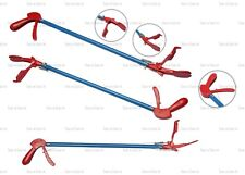 Red & Blue Wide Jaw Snake Lizard Catcher Tongs Reptile Grabber Tool Handling 31""
