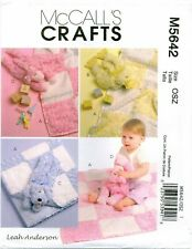 McCalls Crafts 5642 Baby Gifts Toy Plush Blanket Quilt Anderson Pattern Uncut