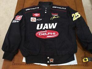 2001 Nascar Jerry Nadeau UAW Delphi Racing Jacket USA Made NWT sml Chevy Vintage