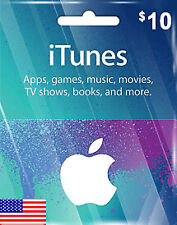 Apple iTunes Gift Card - $10 (USD) - American USA  - Instant Delivery