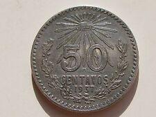 MEXICO , 50 CENTAVOS DE 1937 . PLATA
