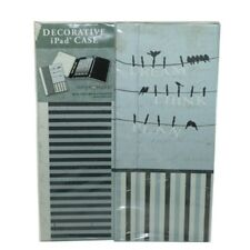 Decorative iPad Case With Notepad and Stylus Pen- Bird on a Wire #20759-0-N