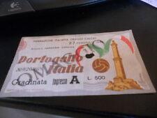 Biglietto Italia-Portogallo 4-1 del 27/02/1949 Grande Torino!! Ferraris (Genova)