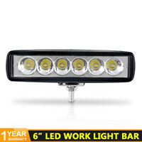 6INCH 18W LED WORK LIGHT BAR SPOT OFFROAD ATV FOG TRUCK LAMP 4WD SUV UTE DRIVING