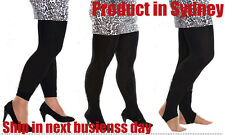 PLUS SIZE Women Top Quality Comfy Black Colour Tights Stockings Pantyhose S-XXL