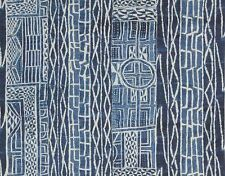 PIERRE FREY AFRICAN NDOP NAMIBIE LINEN FABRIC 10 YARDS INDIGO BLUE