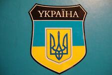2x YKPAIHA  UKRAINE  FLAG SHIELDS CAR WINDOW BUMPER  STICKERS  BIKE HELMET
