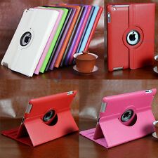 360 Degree Rotating Litchi Leather Smart Cover Case For iPad 2 3 4 5 5TH Air Min