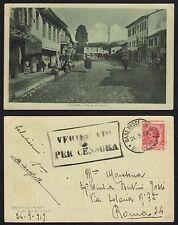 STORIA POSTALE Occ. Albania 1919 Cartolina da Base Passeggera a Roma (FILX)