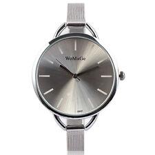 New WoMaGe Brand Women's Quartz Wrist Watch Slim Mesh Bracelet Lady Girl Bangles