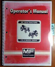 Massey Ferguson MF 1010 MF1010 2 & 4 Wheel Drive Tractor Owner Operator's Manual