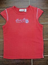 Vintage 1980s COCA COLA authentic Ladies Dark Red T-Shirt size MEDIUM very nice